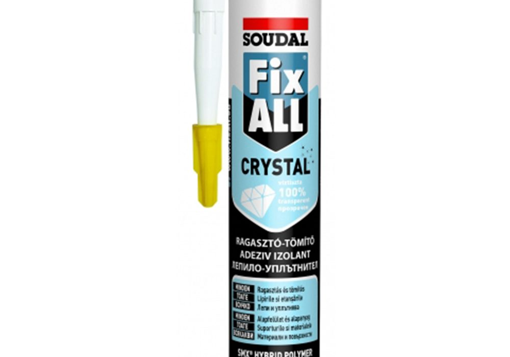Soudal-Fix All Crystal ragasztó-tömítő
